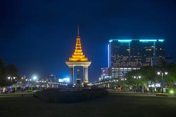 Photo sur Plexiglas Commemoratif CAMBODIA PHNOM PENH SIHANOUK STATUE