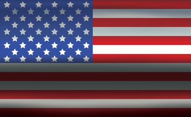USA Flag Metallic Wavy Texture Abstract Background