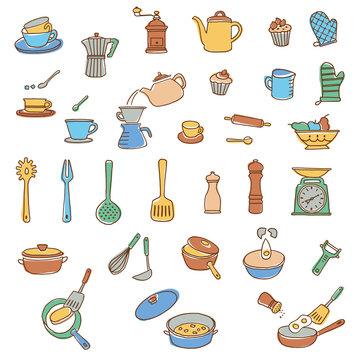 調理器具のイラスト,