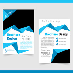 Business brochure,  flyer, cover design template.