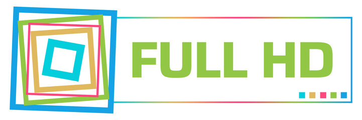 Full HD Colorful Borders Square Horizontal