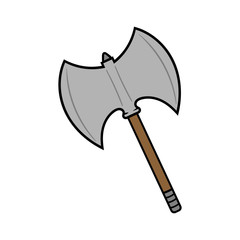Cartoon Battle Axe Illustration