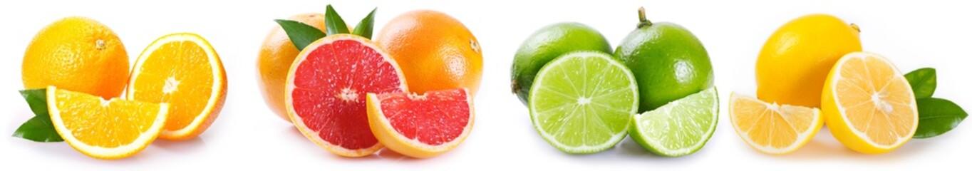 Fresh orange, grapefruit, lime and lemon
