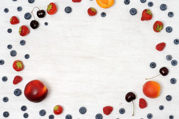 background of fruits and berries