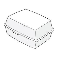 vector of foam box