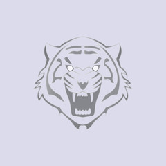 head tiger logo vector