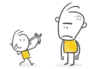 Strichfiguren / Strichmännchen: David gegen Goliath. (Nr. 263)
