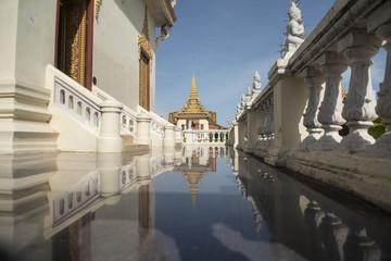 CAMBODIA PHNOM PENH ROYAL PALACE SILVER PAGODA