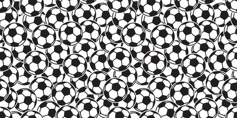soccer ball seamless pattern vector football sport tile background scarf isolated repeat wallpaper