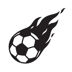 soccer ball vector football logo icon fire symbol illustration cartoon graphic
