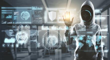 hacker in process
