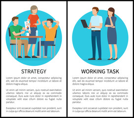 Strategy and Working Task Vector Illustration