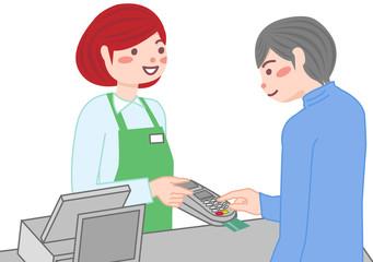 レジ クレジットカード 支払い