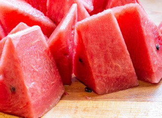 Close Up Of Sliced Watermelon 4