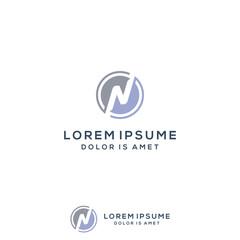 Letter N logo template vector illustration