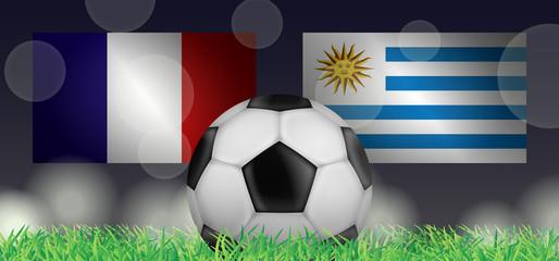 Fußball 2018 - Viertelfinale (Frankreich vs Uruguay)