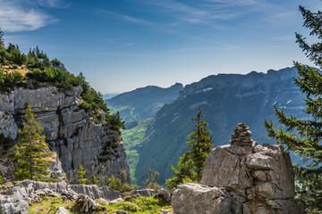 In de dag Blauwe jeans Swiss, Alps panorama view
