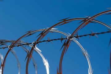 Barbed and Razor Wire Fence