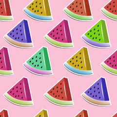 bright slices of watermelon pattern