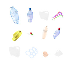 Plastic garbage elements