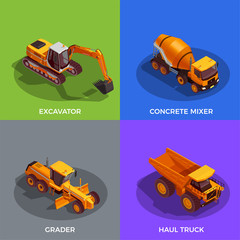 Building Vehicles Isometric Design Concept