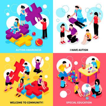 Autism Isometric Design Concept