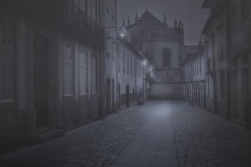 Old city dusk