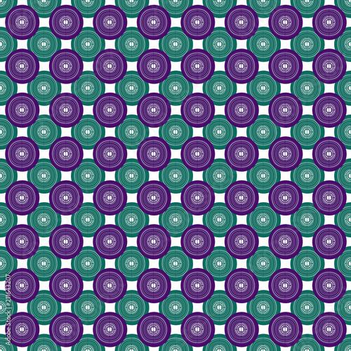Sfondo Retrò Con Forme Concentriche Viola E Verde Stock Photo And