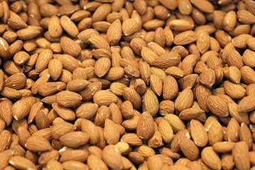 whole bulk almond close up, almond nuts wholesale