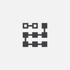 Clustering icon. Simple element illustration