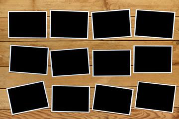 Blank instant photo frames.