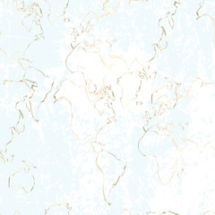 Gold foil outline abstract pattern design. Golden trendy chic background