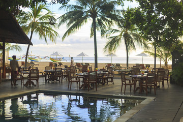 Aluminium Prints Indonesia A Sanur resort on Bali in Indonesia