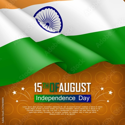 Festive illustration of independence day in india national festive illustration of independence day in india national traditional holiday celebrated on august 15 m4hsunfo