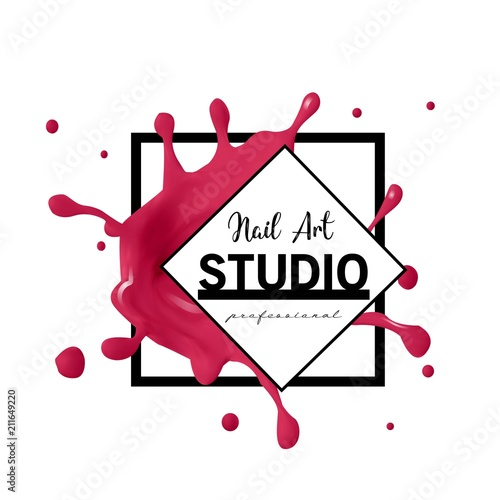 Nail Art Studio Logo Design Template Stock Image And Royalty Free