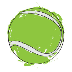 Sketch of a tennis ball