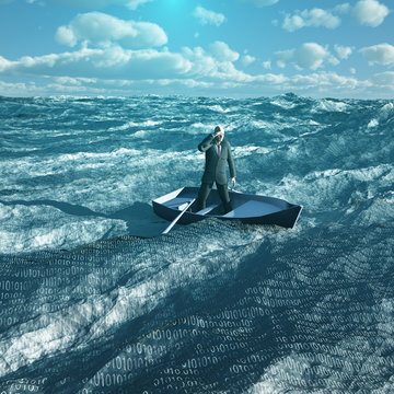 Man drift in binary ocean