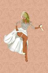 a beautiful pin-up bride