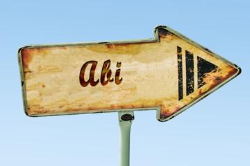 Schild 328 - Abi