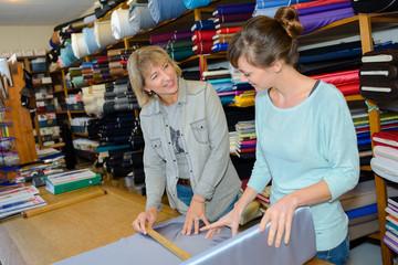 measuring an expensive silk
