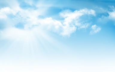 Abstract sunny summer blue sky
