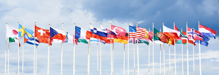 Flags of different countries Wall mural
