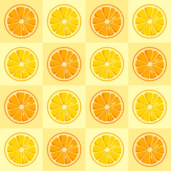Lemon and orange slices seamless pattern.