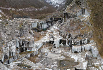Photo sur Aluminium Air view of abandoned marble quarry, Apuan Alps, Tuscany
