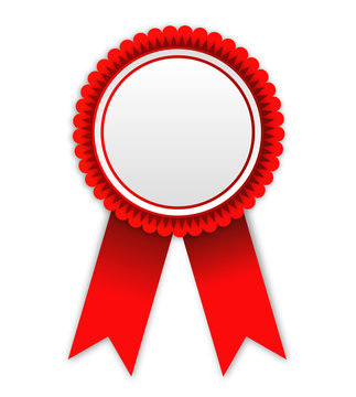 red award badges