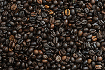 roasted coffee beans, coffee background