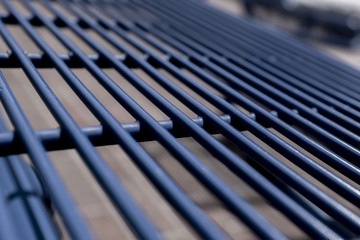 Blue Grate Up Close Macro Photography