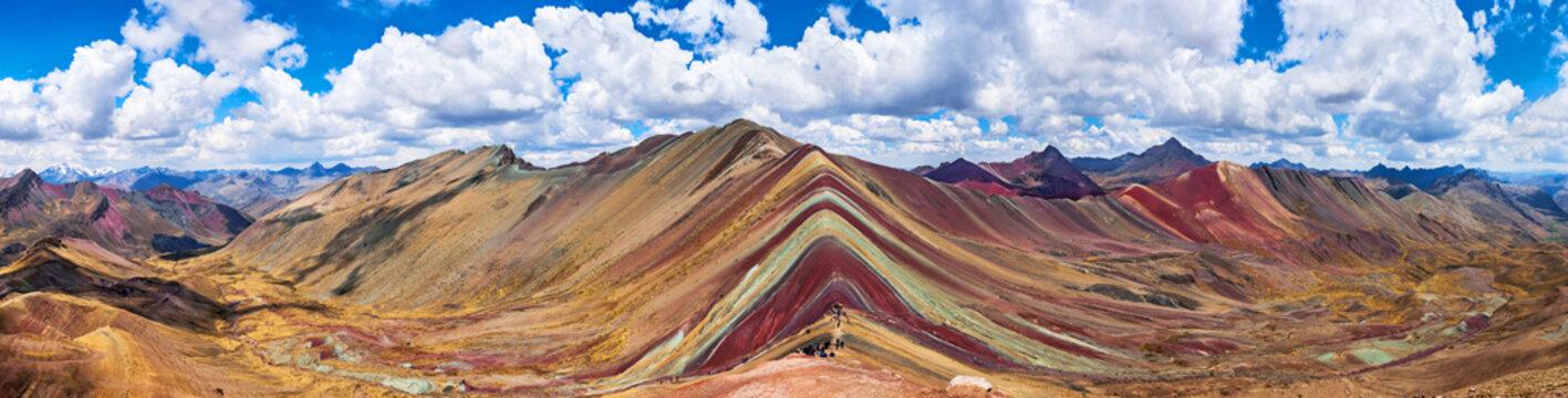 Rainbow Mountains, Cusco, Peru. 5200 m in Andes, Cordillera de los Andes, Cusco region in South America. Montana de Colores.