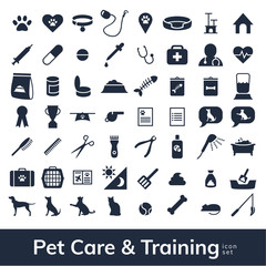 Pet Care and Training Icon Set