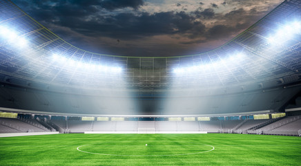 3d stadium field render